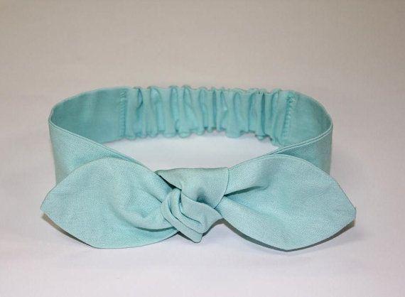 Baby headband pastel mint green baby knot by ElleBelleBliss $12 AUD