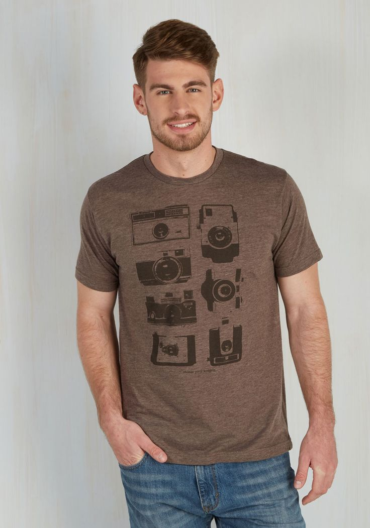 There's an Aperture for That Men's Tee. Is your fave fellow a camera connoisseur? #brown #modcloth