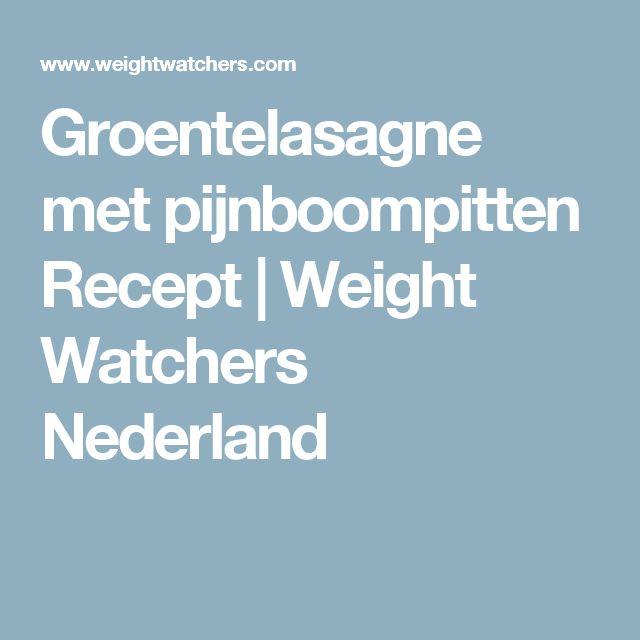 Groentelasagne met pijnboompitten Recept   Weight Watchers Nederland