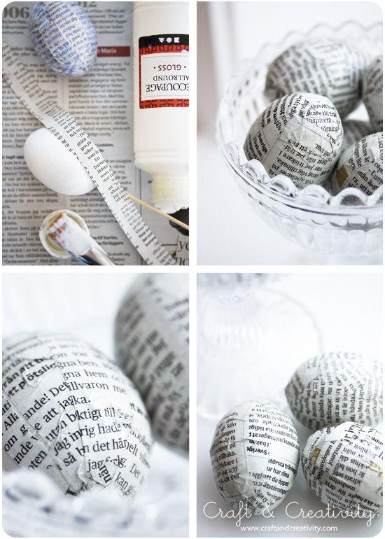 Små tidningsägg - Craft & Creativity