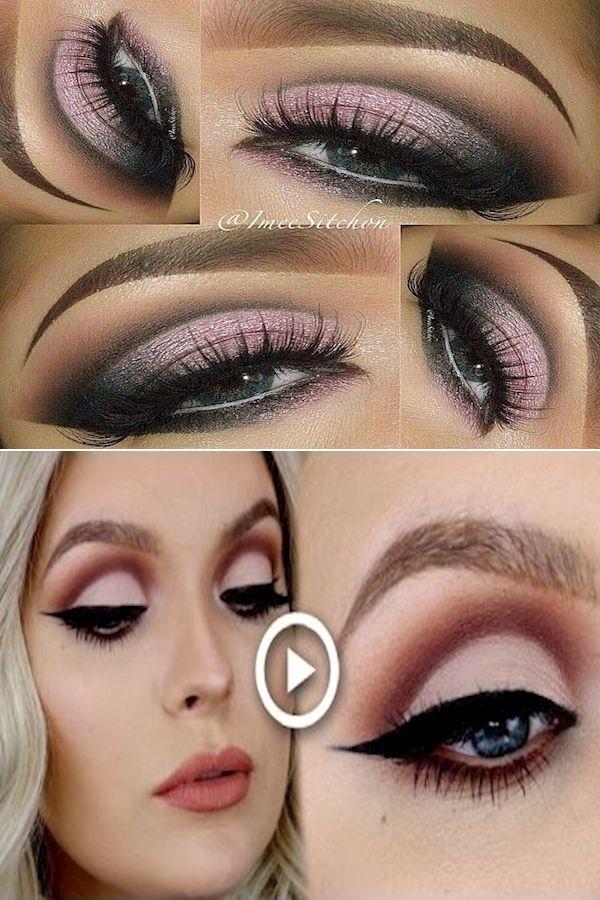 Loose Glitter Eyeshadow Brown Liquid Eyeliner Pink