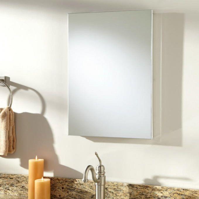 Kenilworth Stainless Steel Recessed Medicine Cabinet White