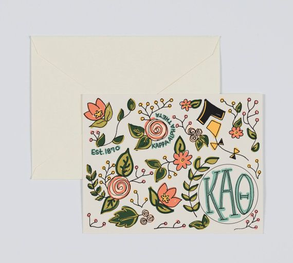 Kappa Alpha Theta Sorority Greek Letters- Floral Design