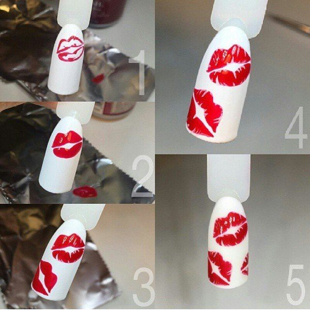 NEW HAIR IDEAS NAIL DESIGNS AND MAKE UP TUTORILS EVERYDAY: Nail Art Design Idea Lips Step by Step