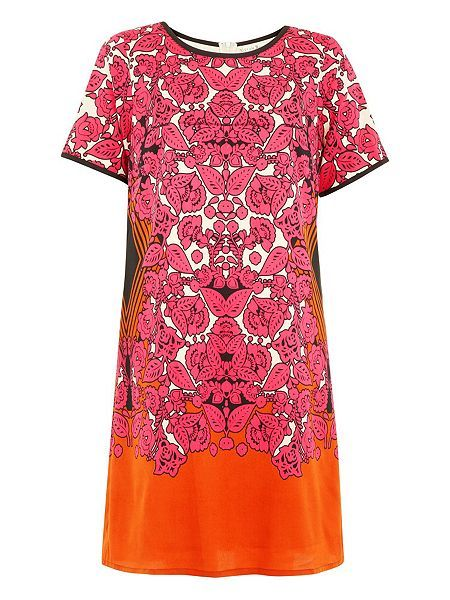 Folklore Scarf Print Shift Dress  Folklore Scarf Print Shift Dress