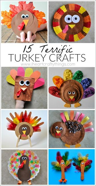 I HEART CRAFTY THINGS: 15 Terrific Turkey Crafts for Kids
