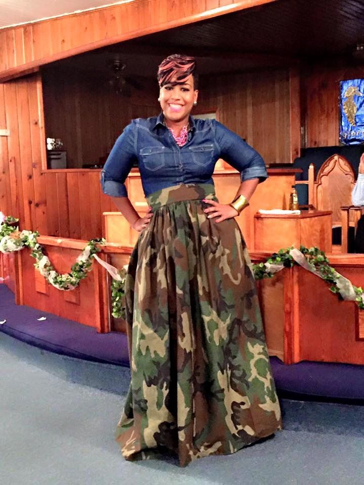 My first camouflage maxi skirt, most requested by my customers