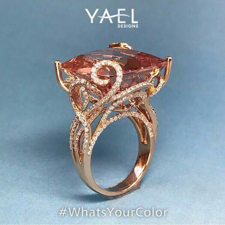 GABRIELLE'S AMAZING FANTASY CLOSET | Padparadscha Sapphire and Diamonds mounted in 18k Rose Gold
