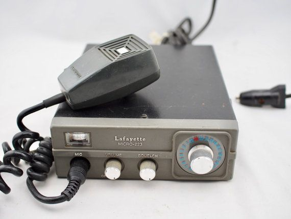 Vintage Lafayette Micro-223 CB Radio with Mic  by MySistersNook