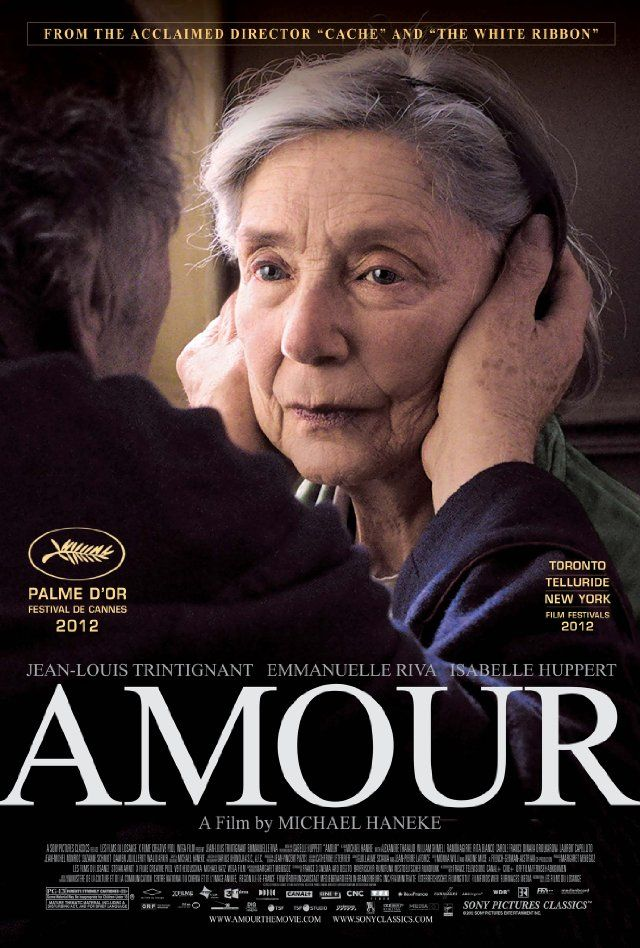 Amour - Georges and Anne are in their eighties. They are cultivated, retired music teachers. Their daughter, who is also a musician, lives abroad with her family. One day, Anne has an attack. The couple's bond of love is severely tested.