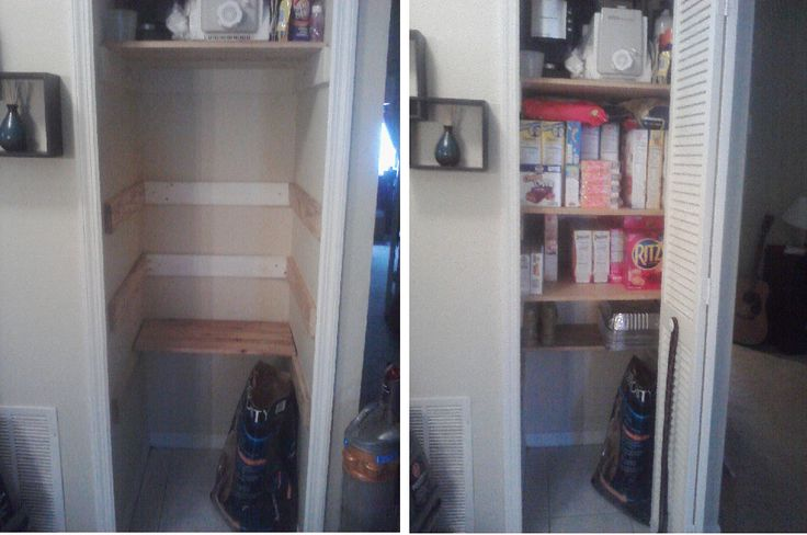 Turn Coat Closet Into Pantry Organizational Ideas