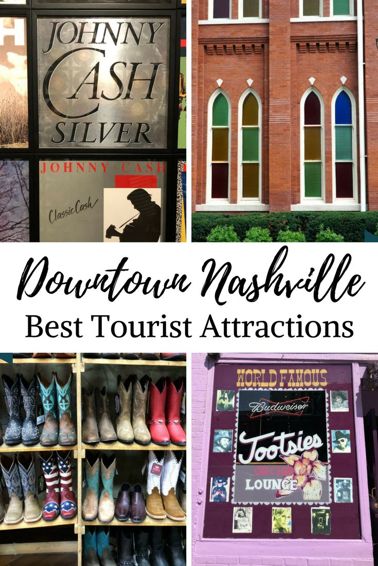 Downtown Nashville - the Best of Music City's Tourist Attractions | Come see why Nashville, TN is on fire these days. With attractions such as Broadway and all of its music venues, the Ryman Auditorium, the Johnny Cash Museum and so much more, people are flocking to Nashville to get in on the fun. Here is our guide to the best attractions in Downtown Nashville. #DowntownNashville #Nashville #travel