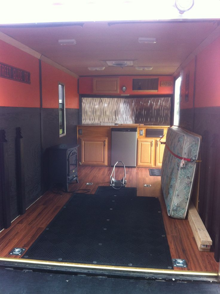 Cool  768  577 In 90 Enclosed Trailer Camper Remodel Renovations Ideas