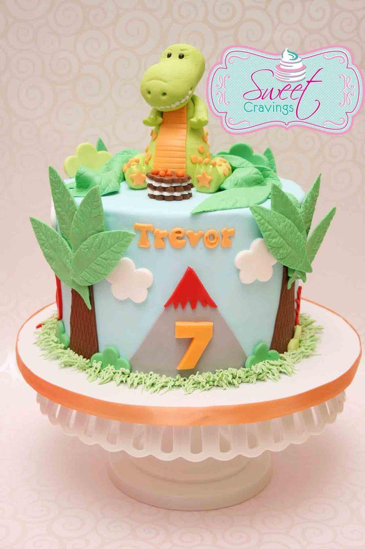 Dinosaur Fondant Cake Ideas