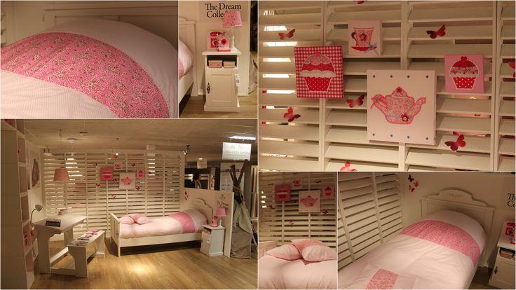 High Tea collectie MOEPA @ Goossens Wonen. Romantische en roze meisjeskamer.