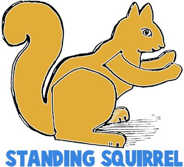 This squirrel for the letter S but facing the other way. Tail in the S shape.