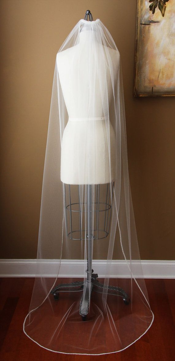 Hey, I found this really awesome Etsy listing at https://www.etsy.com/listing/94342736/chapel-length-veil-upcycled-ivory. Totally wonderful.