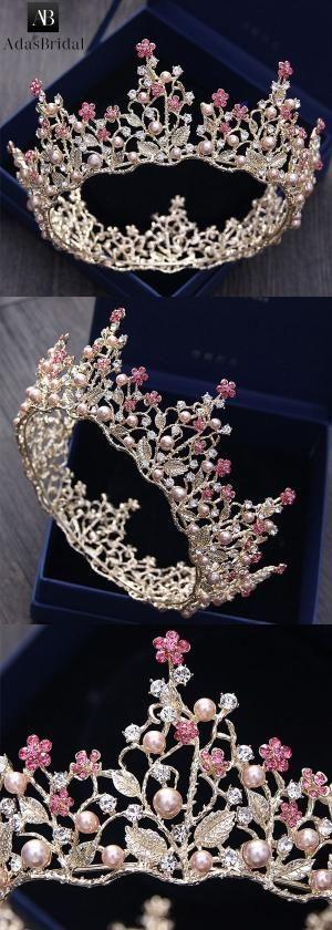 Junoesque Alloy Wedding Tiara With Imitation Pearls by Makia55