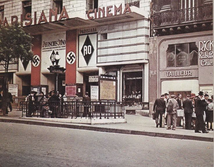 """Occupied Paris: The """"Parisiana"""" theater taken over by the Nazis for the entertainment of troops.Wwii, Ww2 Occupy Paris, History'S Wars, Troops Nazi Occupy, Parisiana Theater, Holocaust, Occupy France, Entertainment, Wars Ii"""