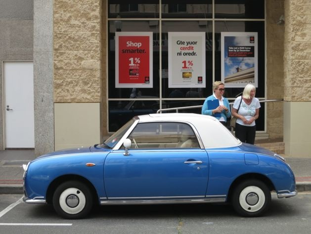 Fighting for sanity in your city - sort of - A Beautiful City - Nissan Figaro on High Street