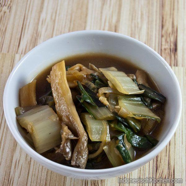 #Wok gerichte: Geschmorter Mangold mit Austernpilze #rezept #kochblog #foodblog #asiatisch #exotisch #gemüse #healthyfood