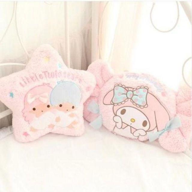 Kawaii 35-47 cm Kleine Twin Sterren Melody Snoep Schoonheid Schattige Kussen Rugkussen Gevulde PP Katoen Creatieve Speelgoed voor Kids Geschenken