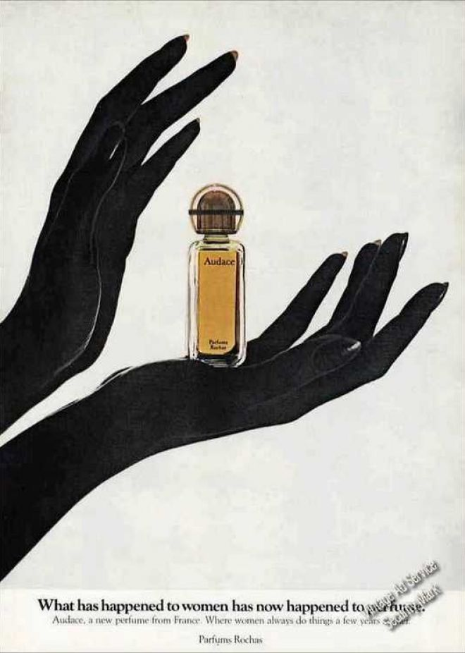 """Audace """"A New Perfume From France"""" Nice (1972)"""