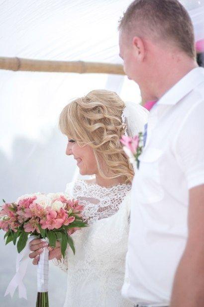 Wedding in Mexico, bouquet for beach wedding, nice flowers for a special day, white and rose color for bridal bouquet. Свадебный букет, свадьба в Мексике, нежный букет, розовый и белый букет для церемонии на пляже.
