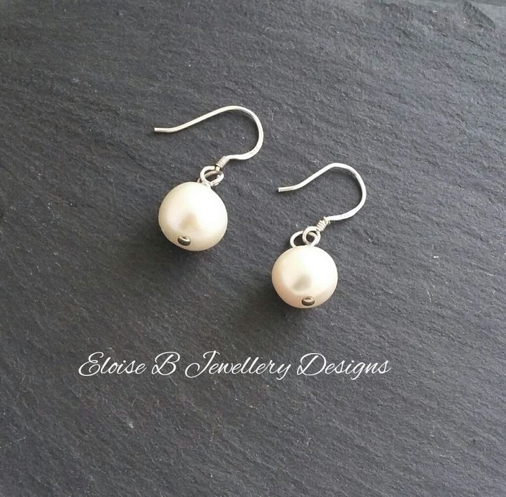Pearl Earrings - Pearl Drop Earrings Sterling Silver - Bridal Jewellery -Wedding Jewellery - Cultured Pearl - June Birthstone - Gift for Her - pinned by pin4etsy.com