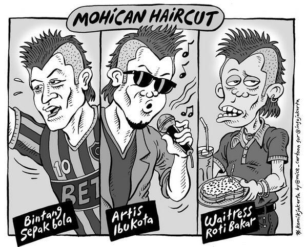 Mohican Haircut #KomikJakarta @mice_cartoon