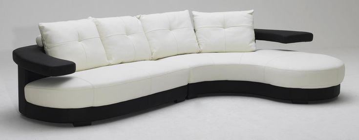 KK899 Black and white Ultra modern Sectional Sofa