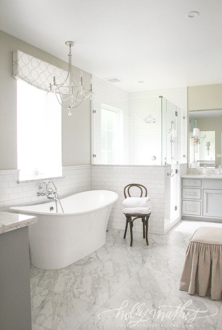 72 best bathrooms to love images on pinterest bath bathroom and more suburban charm house holly mathis interiorslove the tile to ceiling doublecrazyfo Image collections