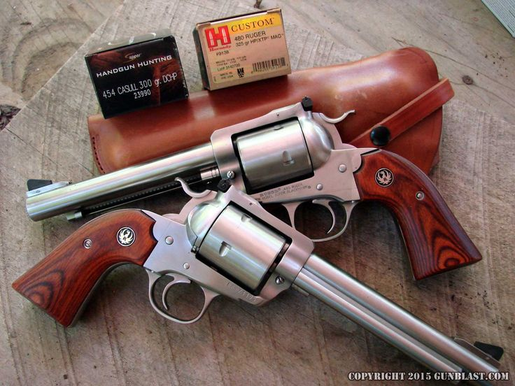 Ruger Single-Action Five-Shot Bisley 454 Casull & 480 Ruger Revolvers