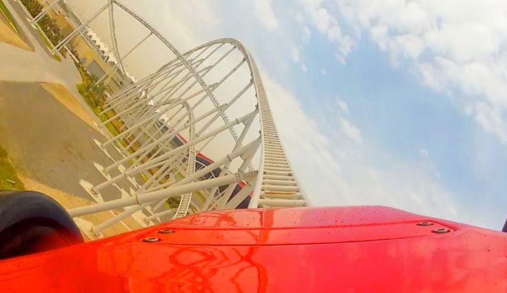 Formula Rossa POV - World's Fastest Roller Coaster Ferrari World Abu Dhabi UAE On