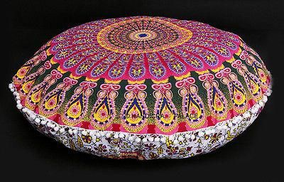 Enhance the beauty of your home with this beautifully handcrafted multicolor #mandala floor cushion cover available for only $15.70. You will receive this product unfilled, for easier shipping. Place your order now! #CushionCover #Handmade  https://mandalamagikdeals.com/products/large-floor-pillow-cushion-covers-in-indian-mandala-pillow-not-included