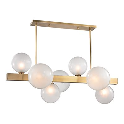 Hinsdale Island Light by Hudson Valley Lighting aged brass #bubbles #balloons