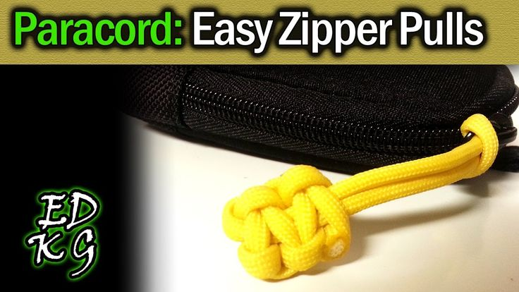This has got to be the simplest method around to reduce 'zipper jingle' on your backpack, jackets, etc. Just a couple of minutes, under 2ft of 550 paracord a...
