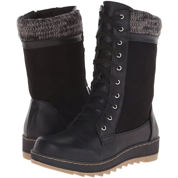 Qupid Women's Whitman 03 Winter Boot ($15) ❤ liked on Polyvore featuring shoes, boots, wide winter boots, qupid boots, qupid, wide width winter boots and wide fit boots