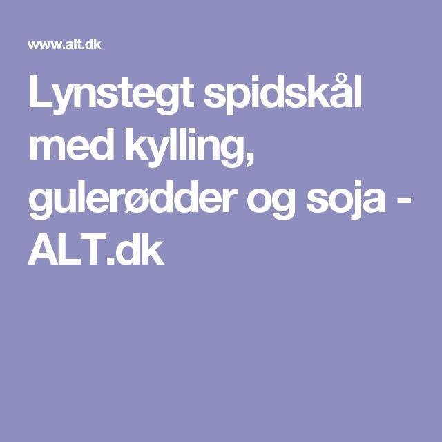 Lynstegt spidskål med kylling, gulerødder og soja - ALT.dk