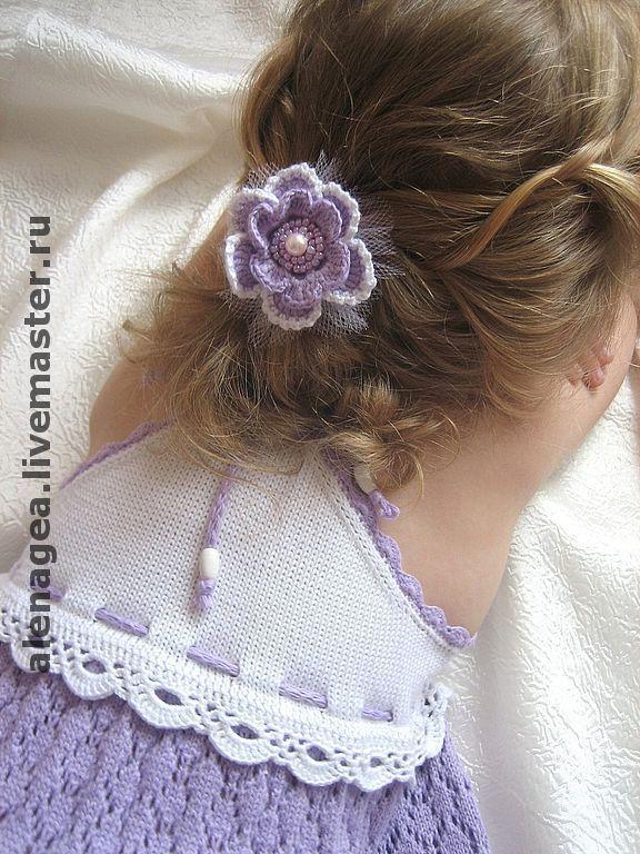 """Купить Платье для девочки """"Мечты о лете"""" - платье, вязаное платье, нарядное платье, летнее платье"""