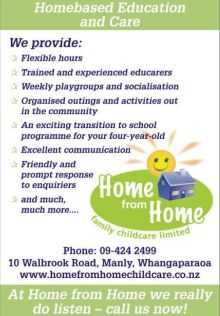 Home from Home - home based childcare for the Hibiscus Coast and North Shore