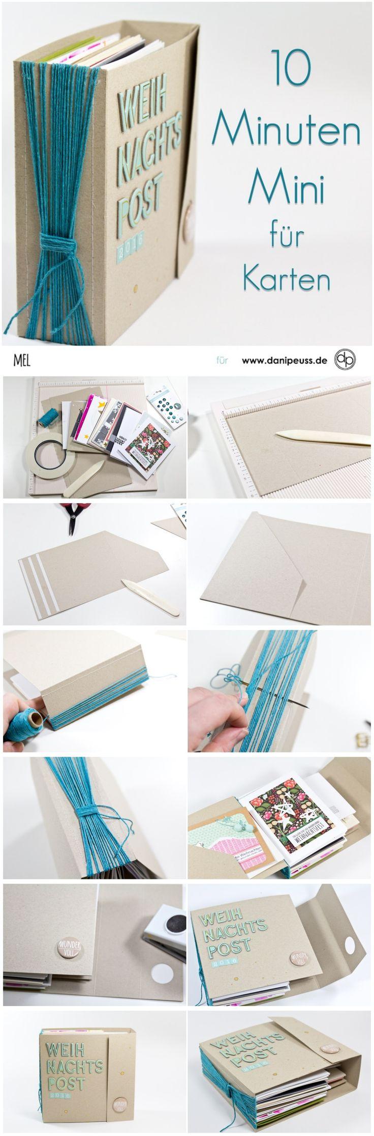 Minibook zur Kartenaufbewahrung von Mel für www.danipeuss.de #geschenkidee #aufbewahrung