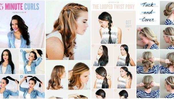 20 magnifiques coiffures de 5 minutes pour vous faire gagner du temps de répétition