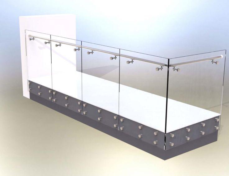 Face Fixed Glass Balcony CAD image