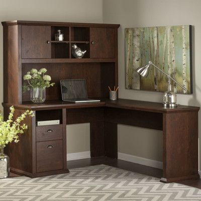 Bush Industries Yorktown Corner Desk with Hutch & Reviews | Wayfair