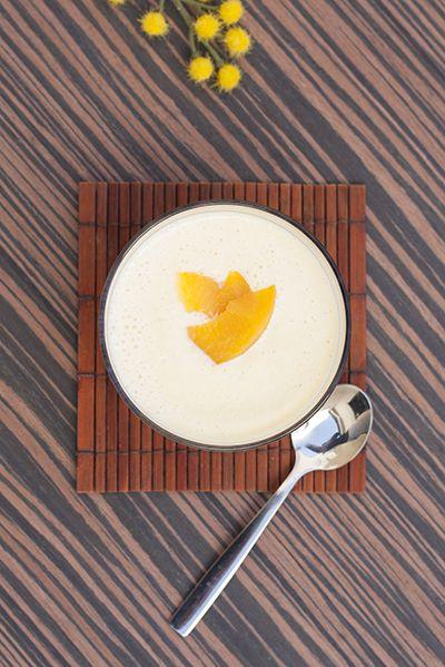 Entra a ver como hacer Crema fría de melocotón en almíbar de manera fácil y detallada