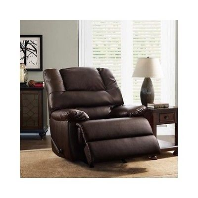 90516 Furniture Recliner Chair Lazy Boy Style Brown Leather Upholstery Living  Room Furniture New BUY IT Part 98