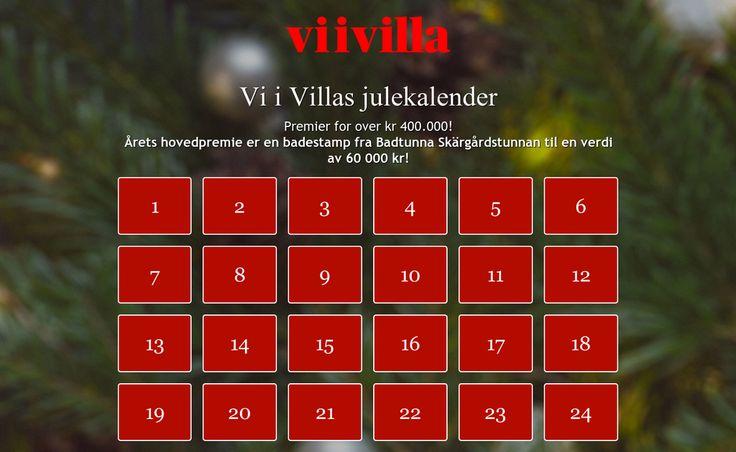 Sjekk ut Vi i Villas julekalender Nye store premier hver dag!