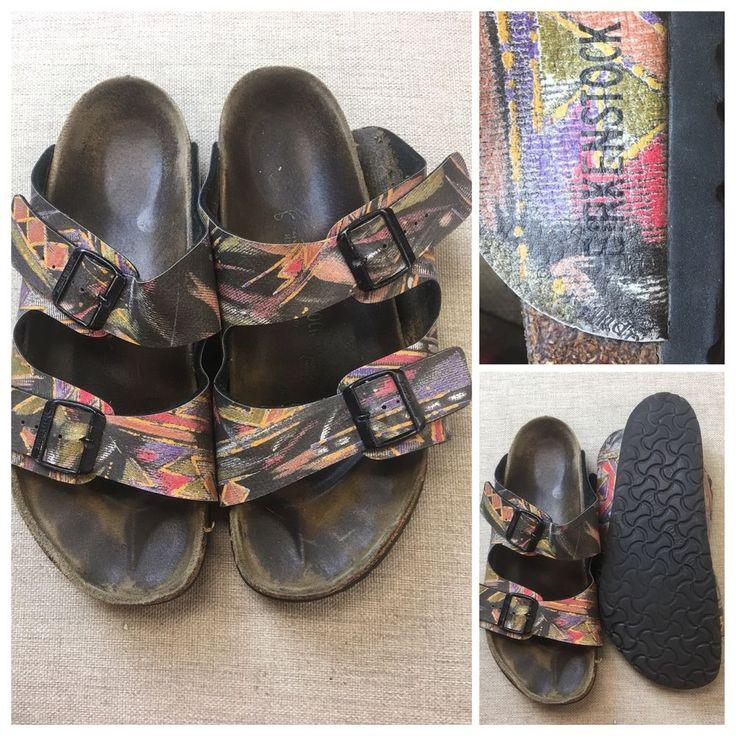 Birkenstock Womens Size 43 / 9.5 Multi-Color Slides Flip Flop Sandals | Z #Birkenstock #Slides