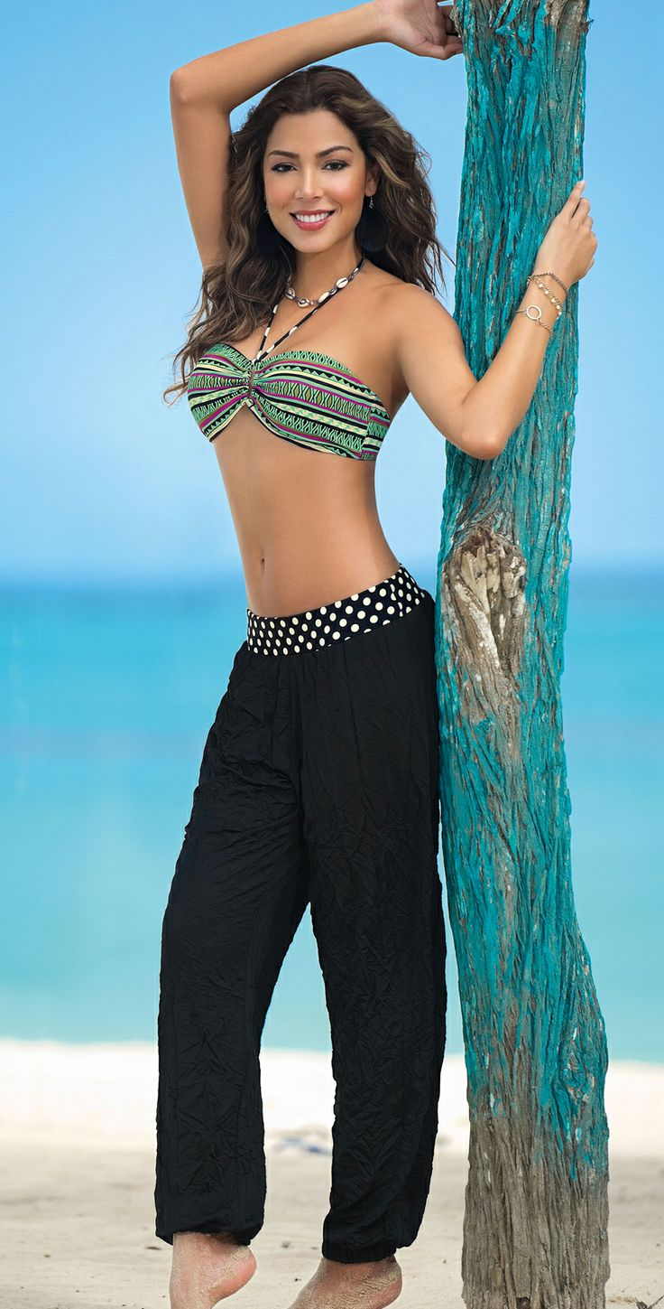 Sandoratto 2014 Black Pant Cover Up 0659-Black | Southbeachswimsuits
